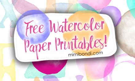 Free watercolor circles printables, get them all now!