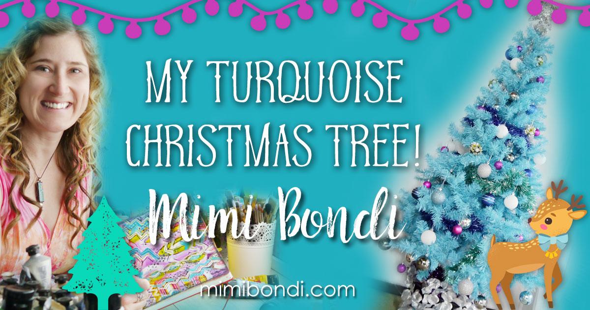 My turquoise Christmas tree!