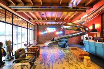 【台中住宿推薦】紅點文旅Red Dot Hotel:台中中華路夜市,最潮的旋轉溜滑梯人文旅店