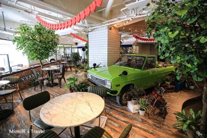 【台中美食】JAI 宅:一中商圈最美義大利麵餐廳朝聖去,綠意森林風,連復古車都開進來當裝飾啦!