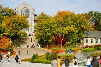 【首爾景點】梨花女子大學(梨大):超美賞楓景點,順遊梨大女人街,很多平價彩妝&服飾