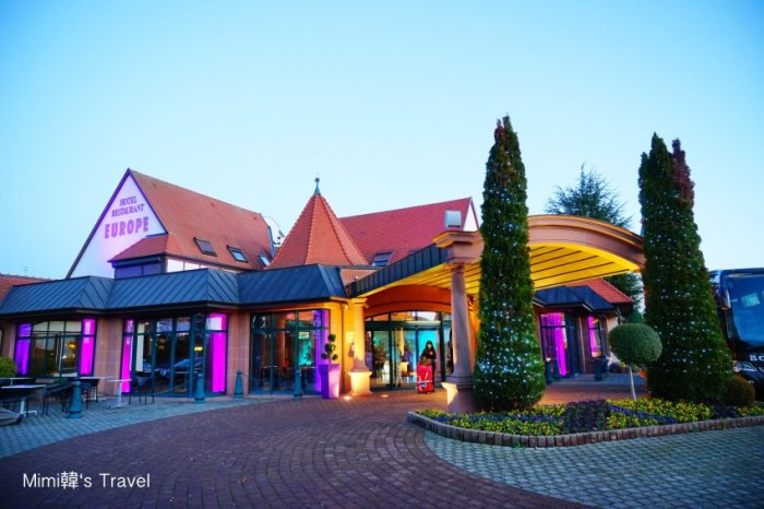【法國科爾馬住宿】Hotel L'Europe Colmar:離科瑪Colmar小鎮10分鐘,寬敞住宿環境,對面有麥當勞