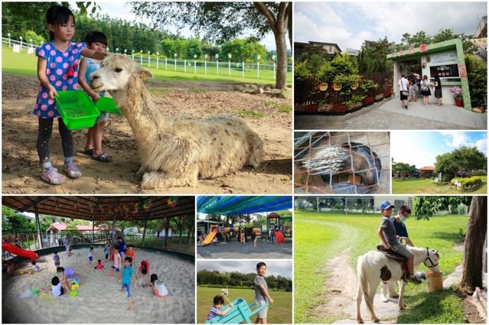 【嘉義景點】獨角仙休閒農場:適合親子旅遊,有超大遊戲空間和小小動物園,還可以餵草泥馬