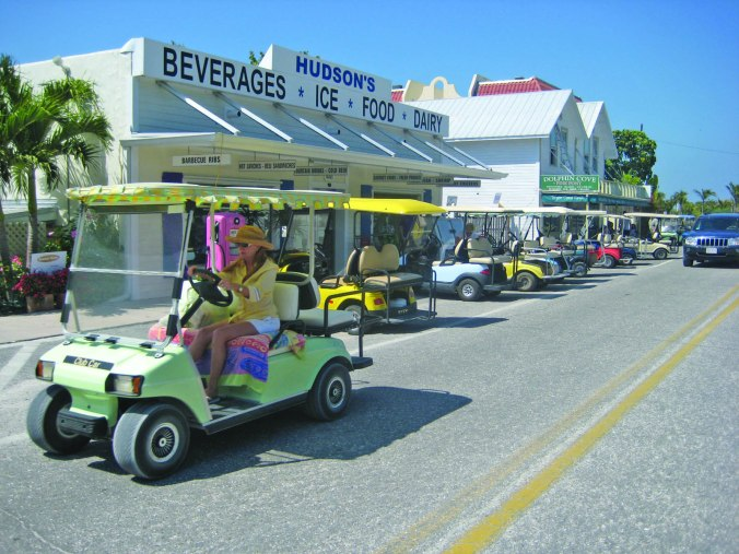golf carting in Boca Grande