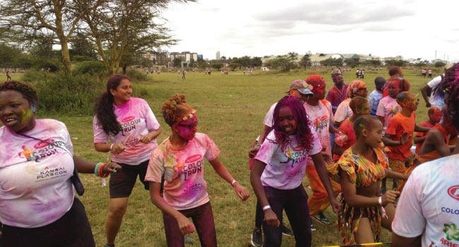 Different colors one people Kenya color run 2018 edition 1