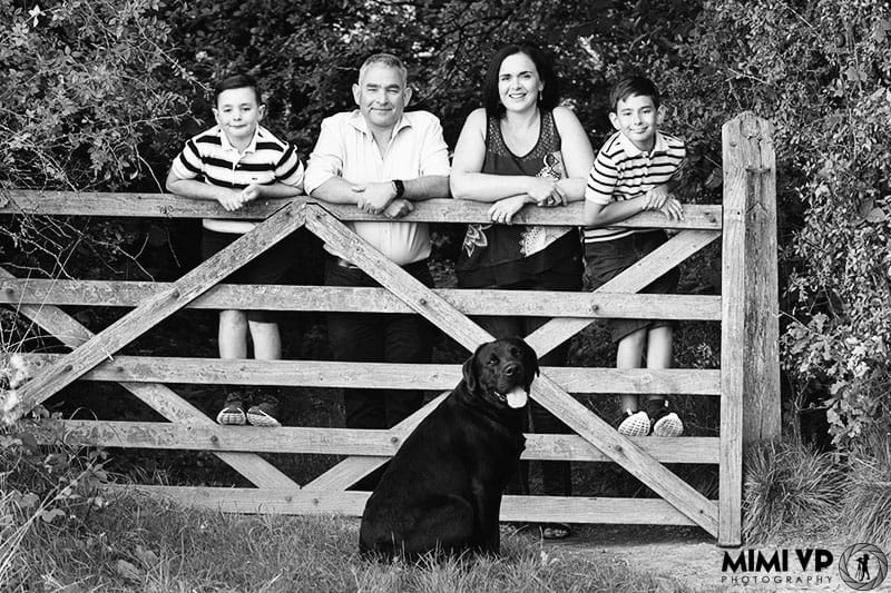 Family in the countryside