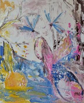 Spring of mysteries, 50x60cm Acrylic on canvas, SEK 5000,00
