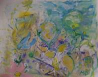 Storm of summer, 30x24cm Acrylic on paper, SEK4000,00