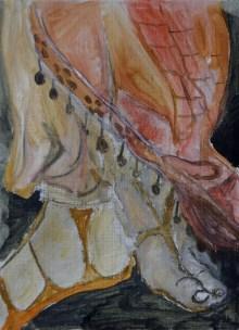 Sunday feet, 20x30cm Oil on canvas, SEK3000,00