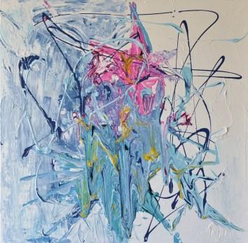 60x60cm Acrylic and sand on canvas, SEK 8000,00