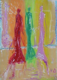 24x34cm Pastel and acrylic on paper in A3 carboard passepartout, SEK 4000,00