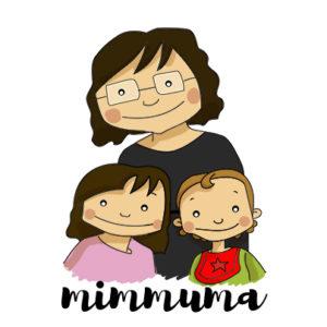 dibujo mimmuma, yo con mis niñas