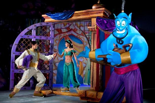 Aladdín, junto a Jasmin y el Genio - foto cedida de Disney On Ice
