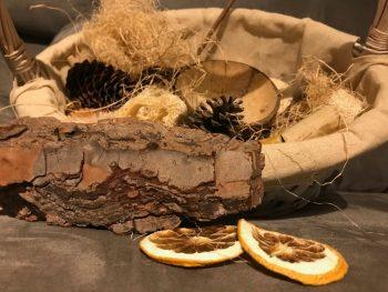 Cítricos secos para la cesta de los tesoros
