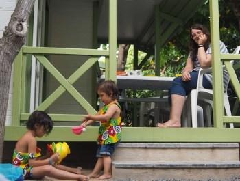 Terraza bungalow camping Cambrils