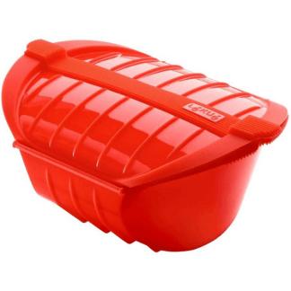 Con el estuche de vapor hondo podrás cocinar al vapor en el microondas alimentos de mayor tamaño