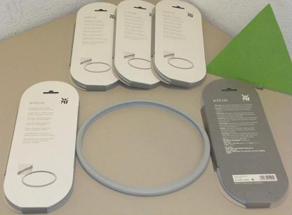 Justa de goma WMF  - WMF Perfect Plus - Set con olla rápida de 22 cm de diámetro de 6,5 litros y cuerpo de 3 litros de WMF