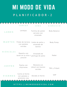 Copia de Planificador 1 min - Vida saludable