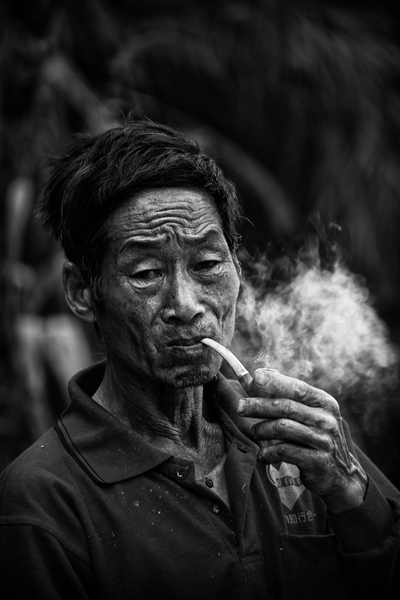 puffing in contemplation
