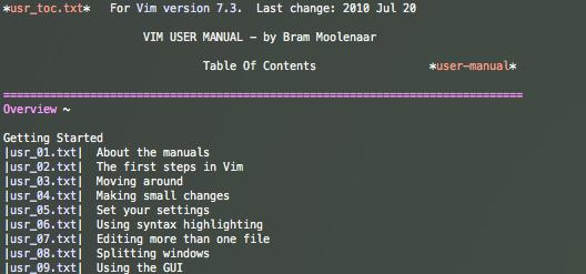 vim user-manual