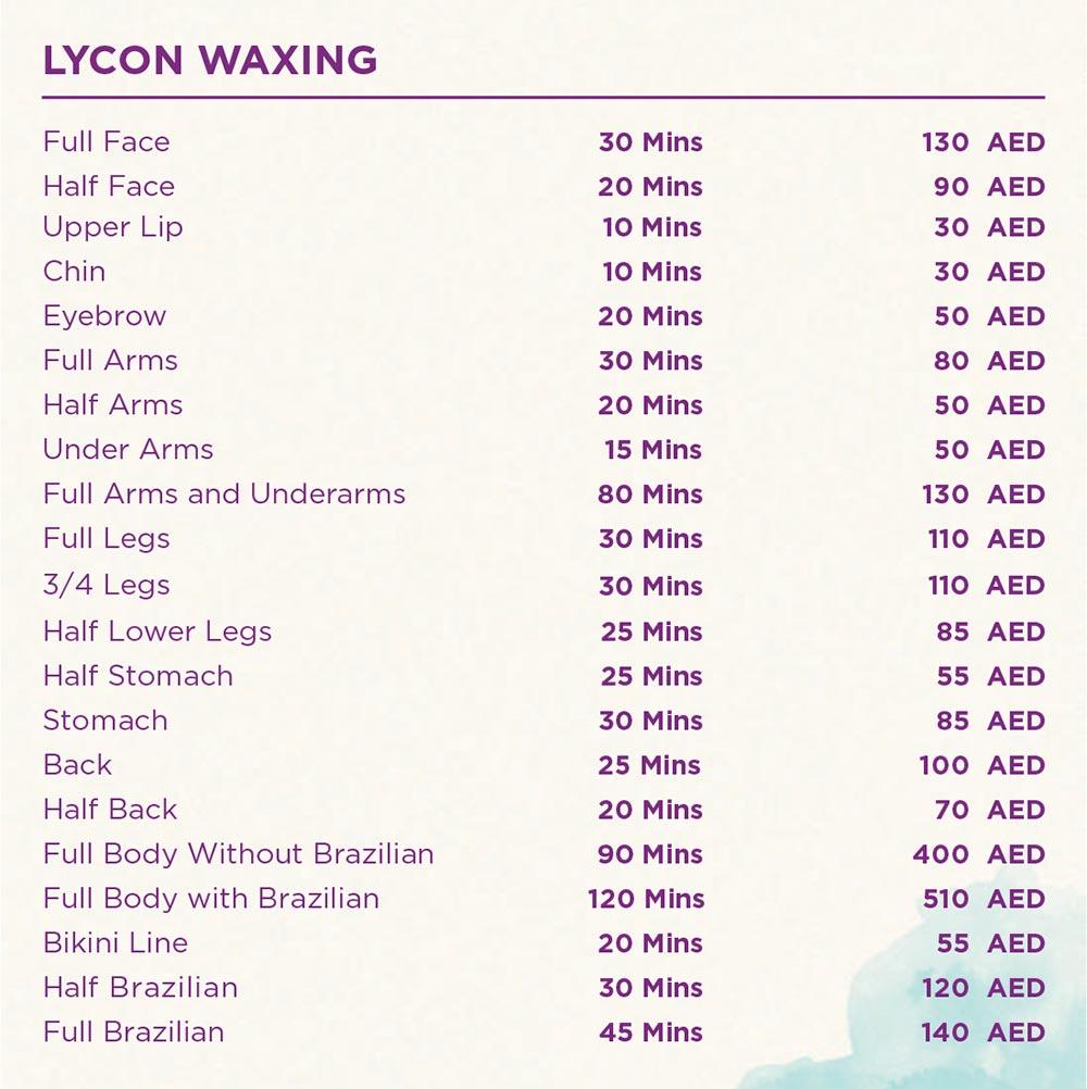 Full face Waxing - Full Body Waxing - Lyon Waxing - Full body with brazilian