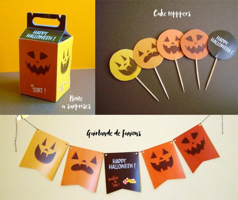 Kit imprimable décorations halloween