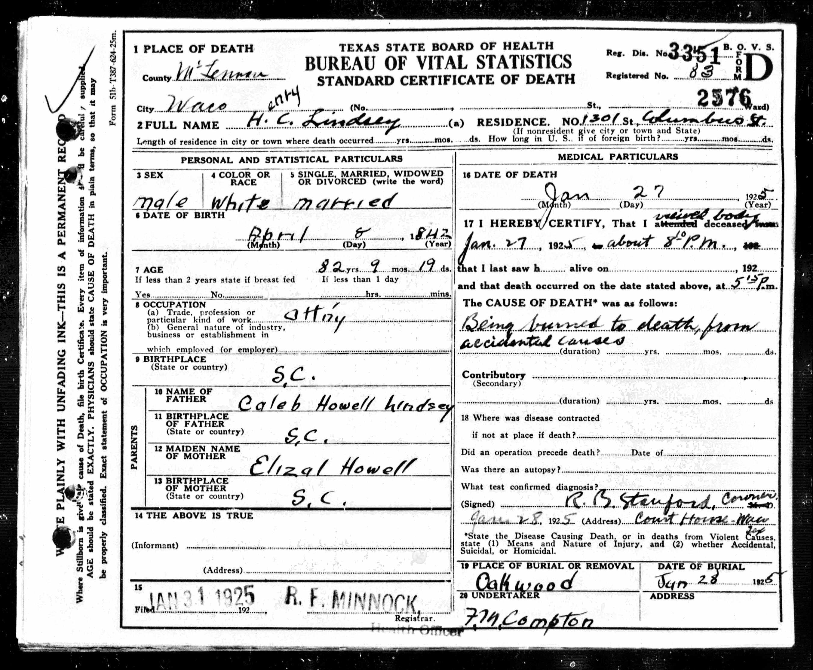 Sc Marriage Dillon Certificate