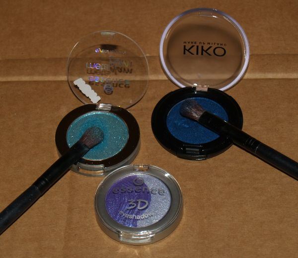 Kiko and Essence eye shadows