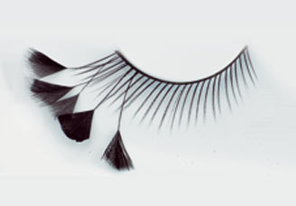Black false eyelashes half feathers