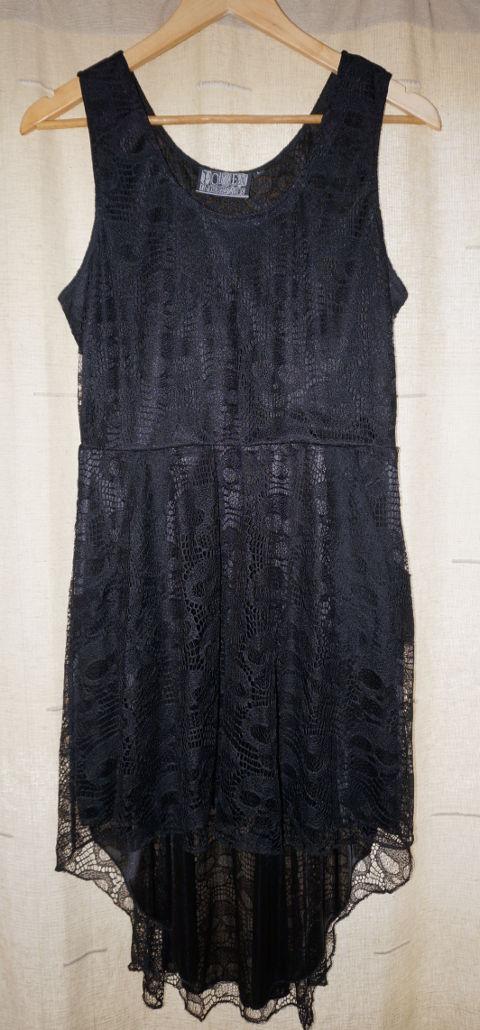 Poizen Industries black dress with skulls