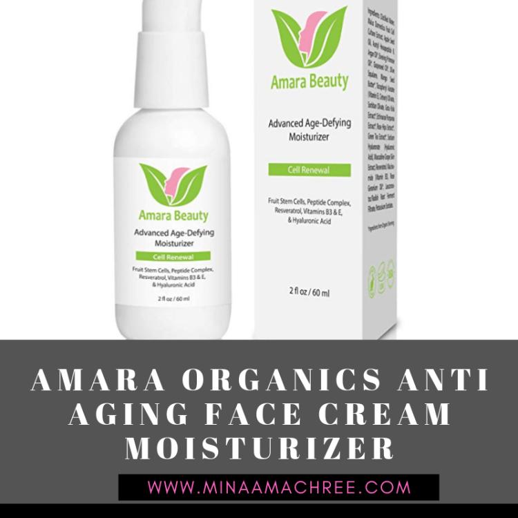Amara Organics Anti Aging Face Cream Moisturizer