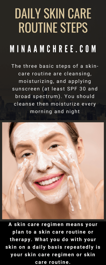 daily skin care routine steps