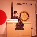 ロータリークラブで「外国人技能実習制度とおもてなしの輸出」についてお話しました。