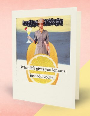 Life Gives Lemon Greeting Card Image