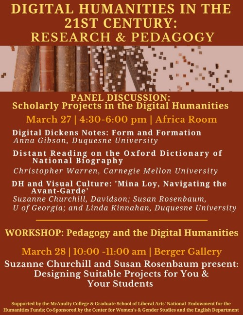 poster for digital humanities colloquium at Duquesne