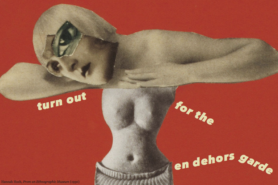 postcard with Hannah Hoch image