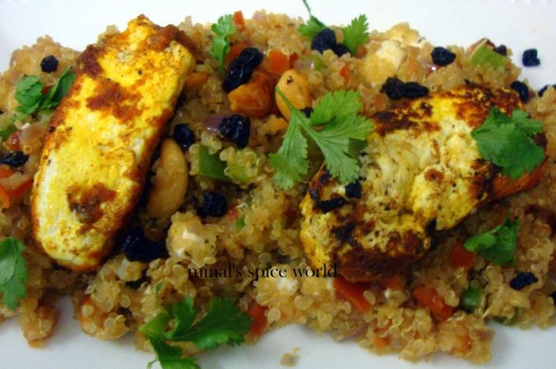 Quinoa risotto with zeerish berries and tofu