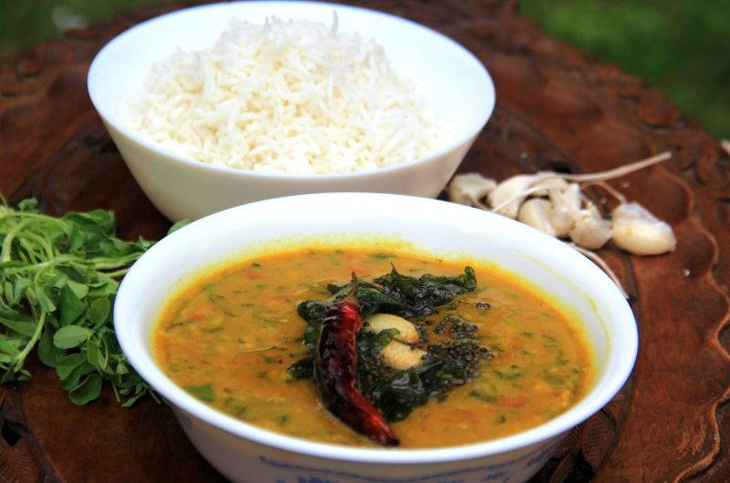 Methi dal   Healthy dal   Lintel cooked with fenugreek leaves