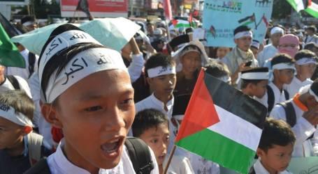 Gerak Jalan Cinta Al-Aqsha di Banten Diikuti Ratusan Peserta