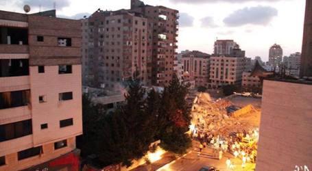 ISRAEL BOM BANGUNAN 11 LANTAI HINGGA RATA DI GAZA