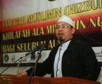 Ketua Sekolah Tinggi Shuffah Al-Quran Abdullah bin Mas'ud Online (SQABM), Dudin Shobaruddin,MA saat memberikan sambutan pada Tabligh Akbar Jama'ah Muslimin (Hizbullah) Wilayah Lampung di Masjid At-Taqwa Komplek Ma'had Al-Fatah, Muhajirun, Lampung. Photo : Hadis/MINA