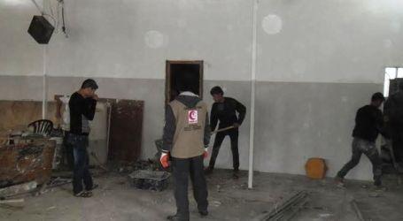 LAGI, RELAWAN MER-C SELESAIKAN RENOVASI MASJID DI GAZA