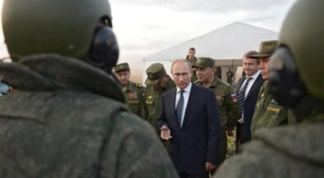 RUSIA LUNCURKAN SERANGAN UDARA PERTAMA DI SURIAH