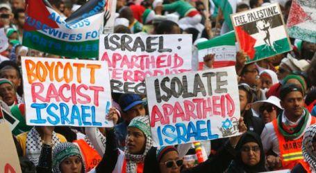 Konferensi di Afsel, Massa Pro-Palestina Tolak Duta Besar Israel