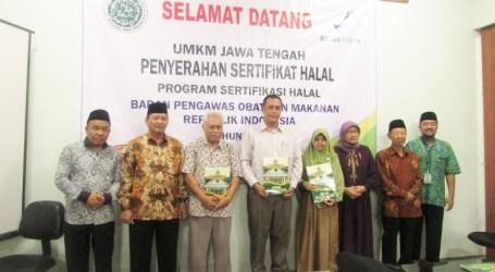 68 UMKM di Jateng Mendapatkan Sertifikat Halal