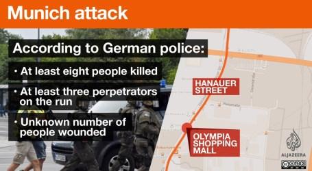 Penembak di Pusat Perbelanjaan Munich Tewaskan 10 Orang