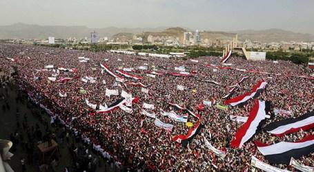 Ratusan Ribu Warga Yaman Demo Kecam Serangan Koalisi Saudi