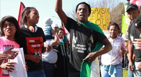 Kelompok Solidaritas Palestina di Afsel Aksi Protes di Kedubes Israel