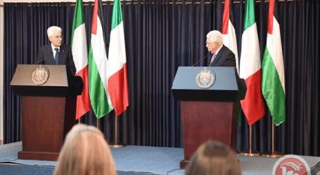 Presiden Italia Apresiasi Hubungan Dengan Palestina