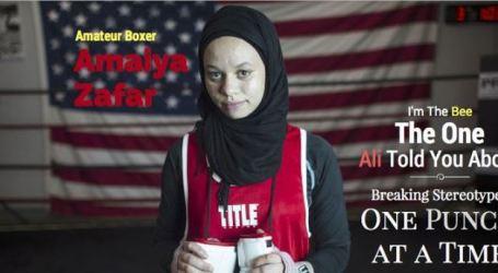 Petinju Muslimah AS Dilarang Bermain Karena Gunakan Jilbab